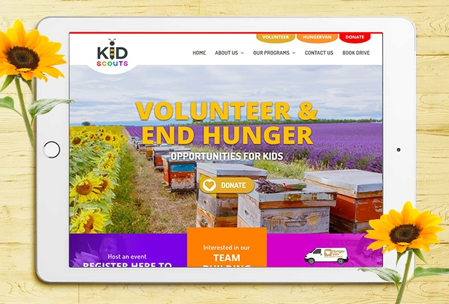 kid scouts wordpress responsive website design
