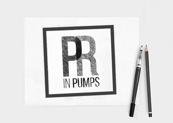 pr in pumps logo sketch