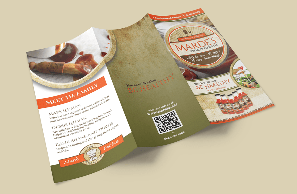 mardes product brochure design