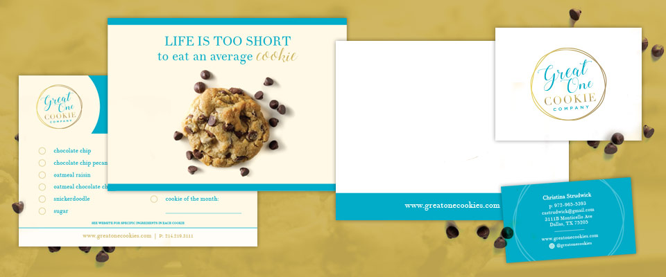 great one cookie print design