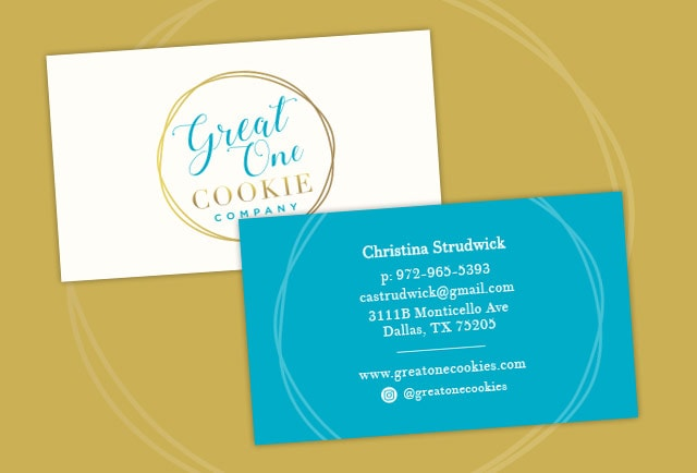 one great cookie business card
