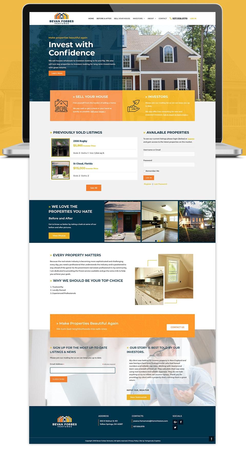 bevan forbes realtor website design