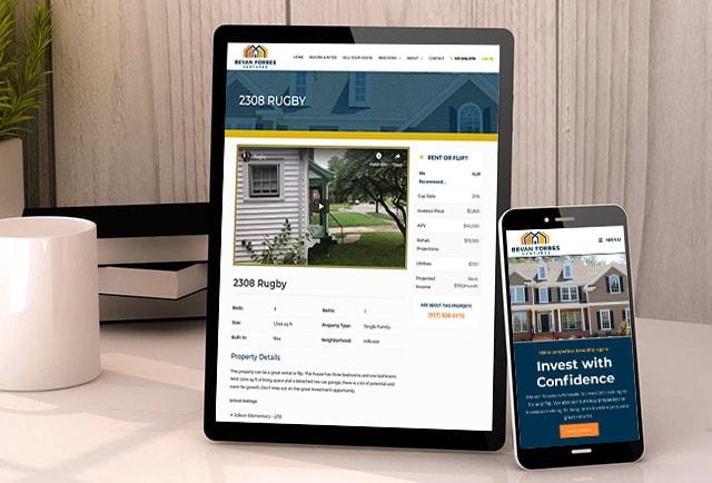 responsive website design for bevan forbes ventures