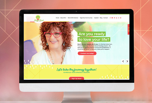 sage soul living life coach website and brand design