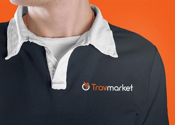 travmarket logo on shirt