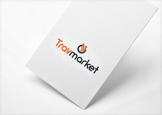 travmarket logo paper mockup