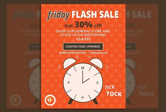 upwords flash sale facebook design