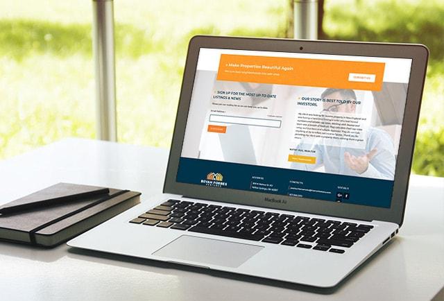 website design sign-up for bevan forbes ventures