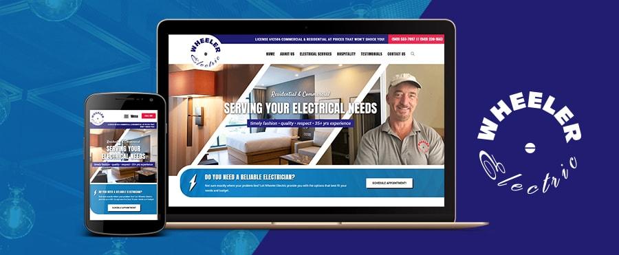 wheeler electric electrician website design
