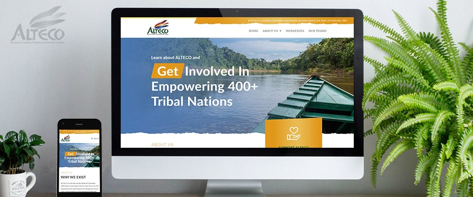 ALTECO non profit website development project