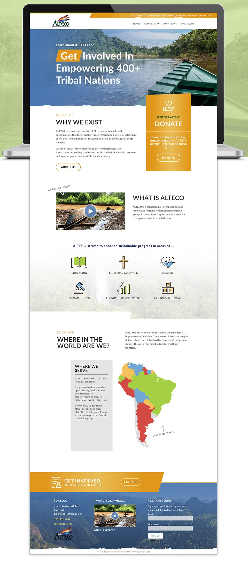 ALTECO website home page design