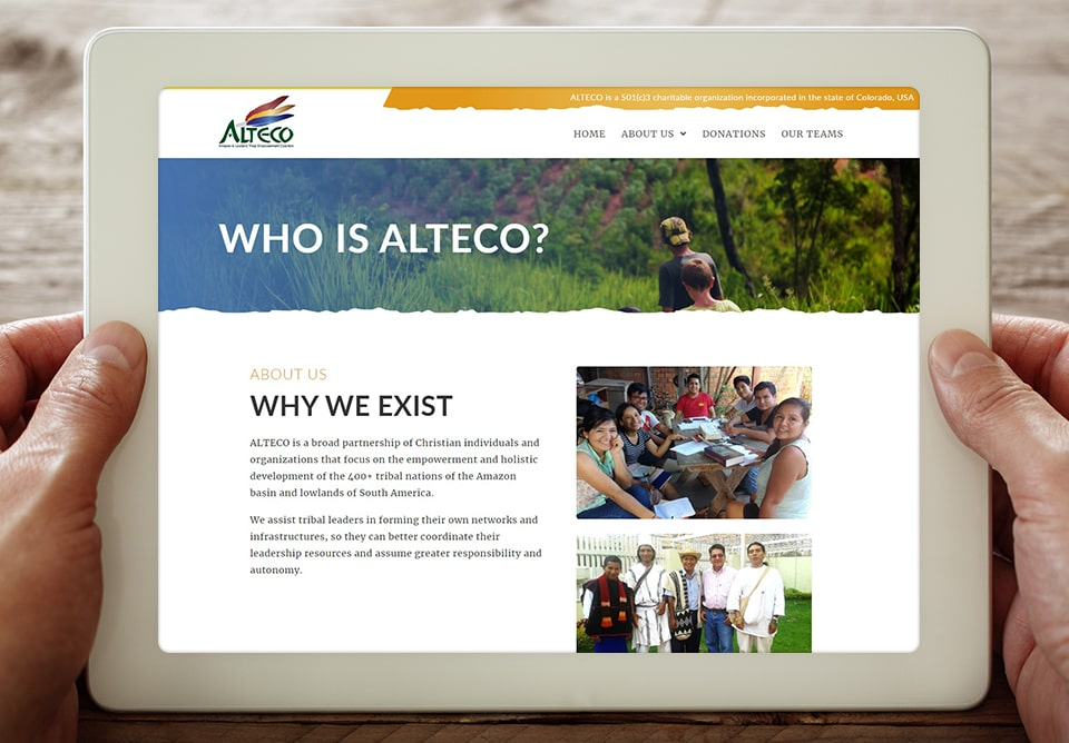 alteco who we are website page