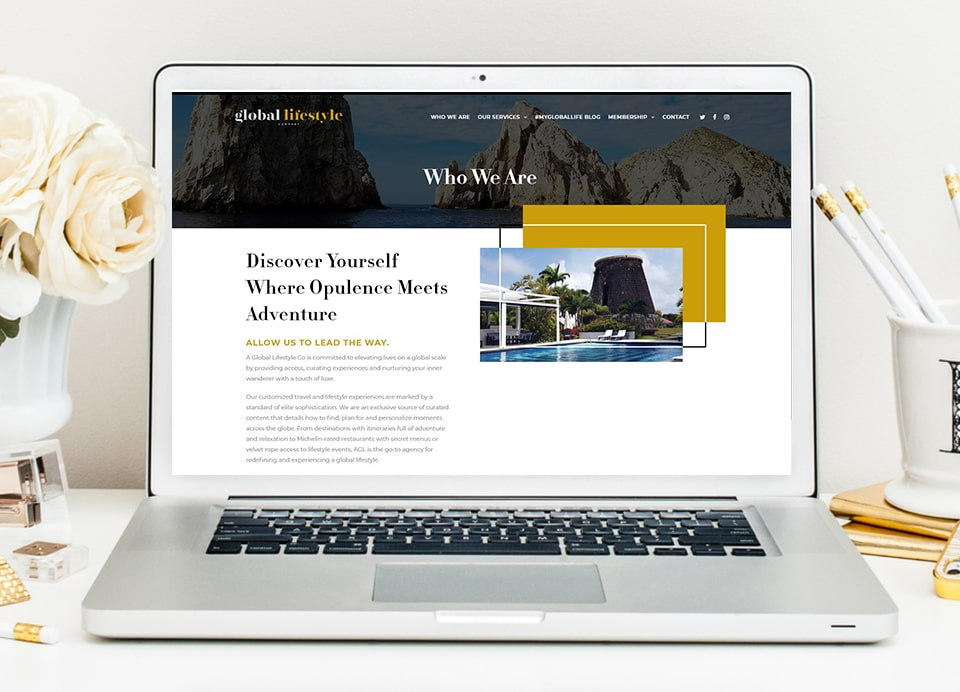 a global lifestyle inner page web design