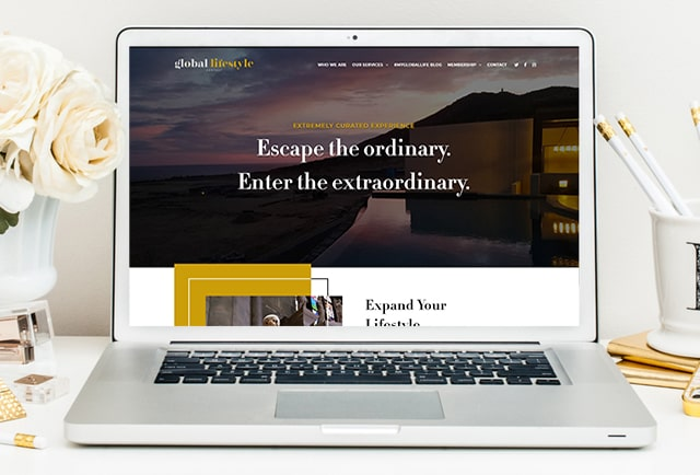 a global lifestyle modern website