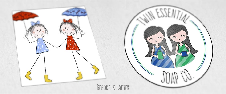 before and after logo design