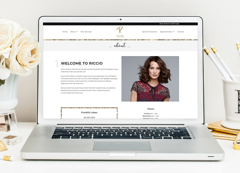 Riccio hair salon wordpress development