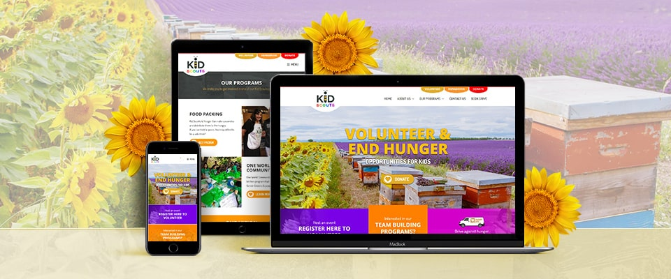 kid scouts responsive website design