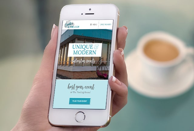 mobile responsive events website design