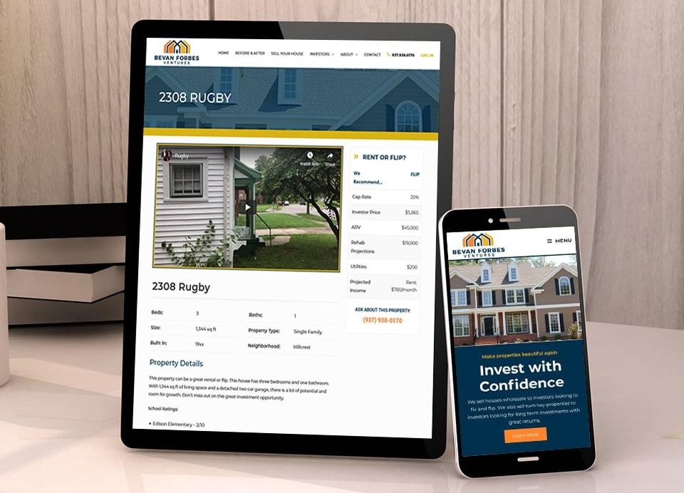 responsive website design for bevan forbes ventures large