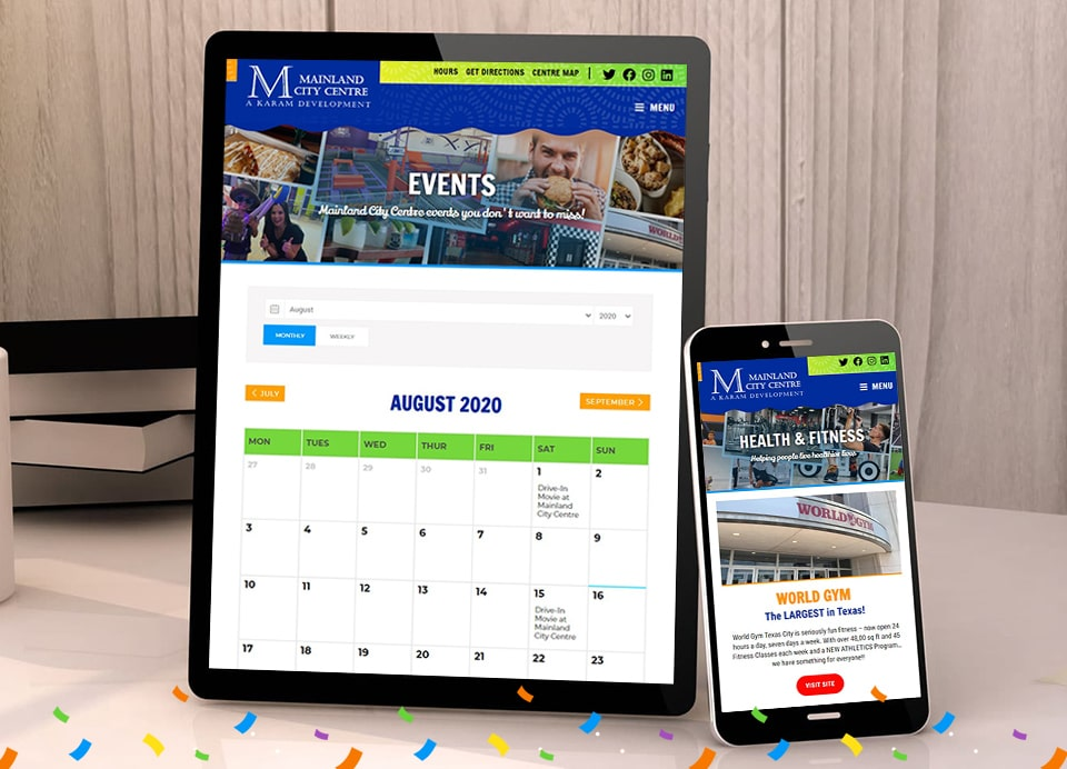MCC responsive website design