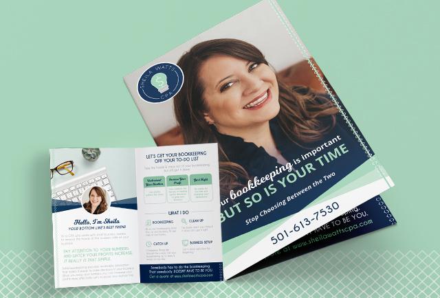 Sheila Watts cpa bi-fold brochure design