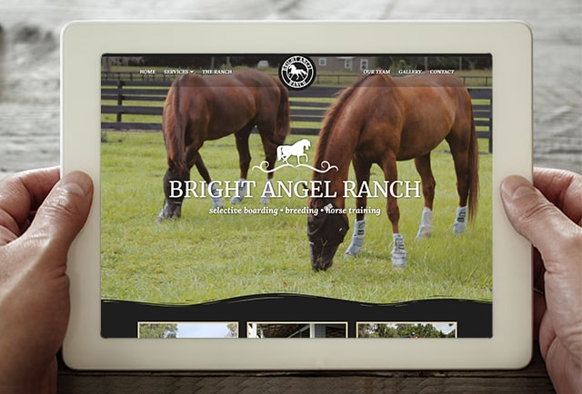 bright angel ranch website design portfolio image