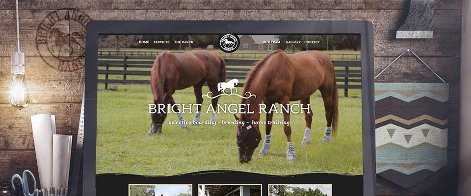 bright angel ranch wordpress website banner