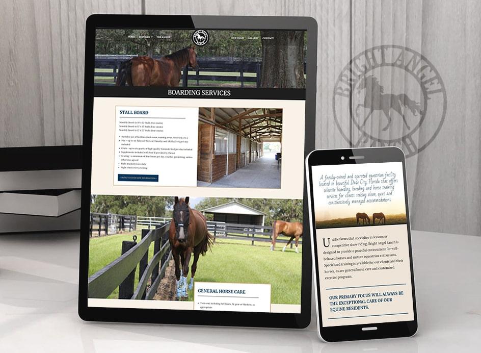 horse ranch responsive website design