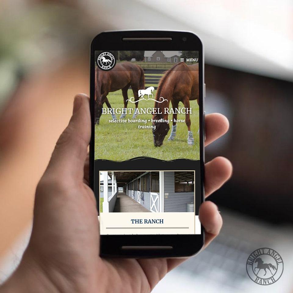 mobile website design of horse ranch