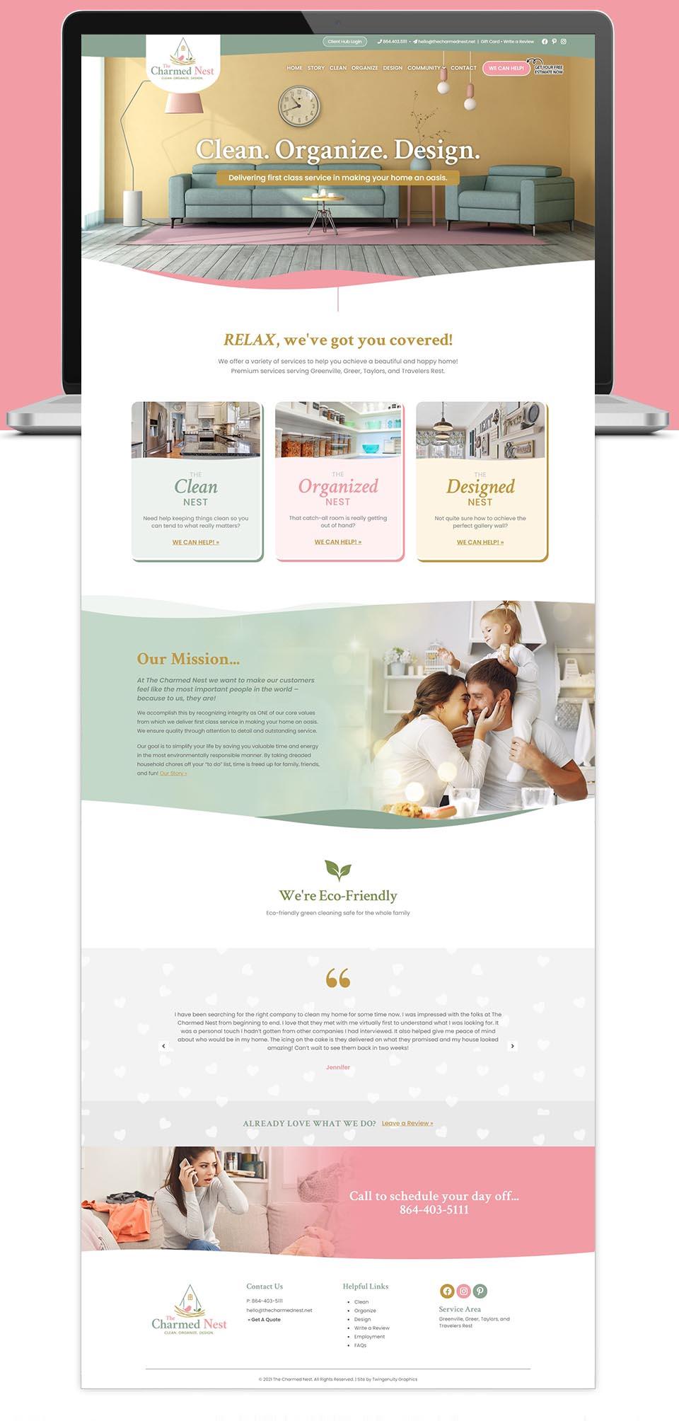 TCN website home page design