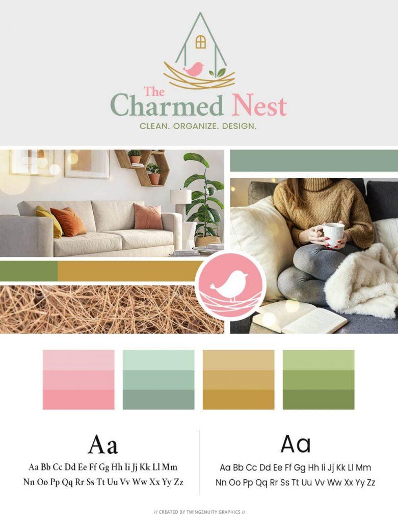 branding board the charmed nest