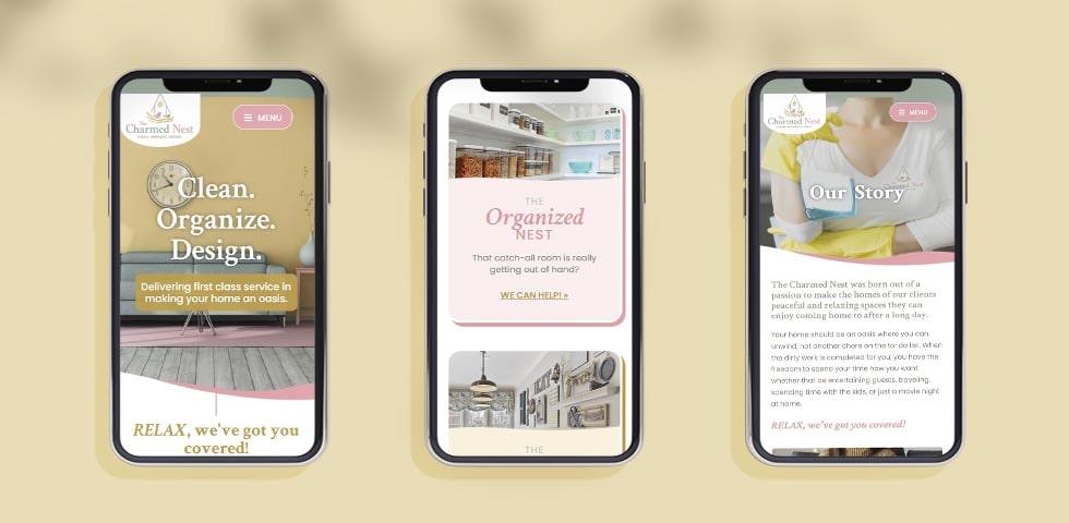 mobile website design mockup