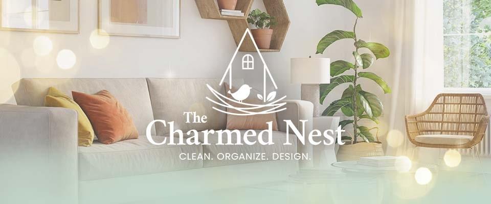 the charmed nest logo design