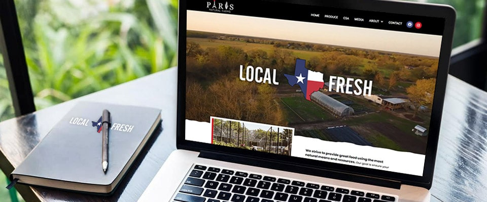 PNF website redesign for sustainable garden farm