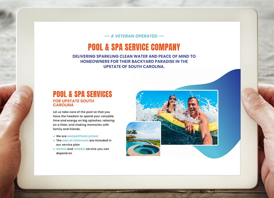 Paradise-pool website design 2