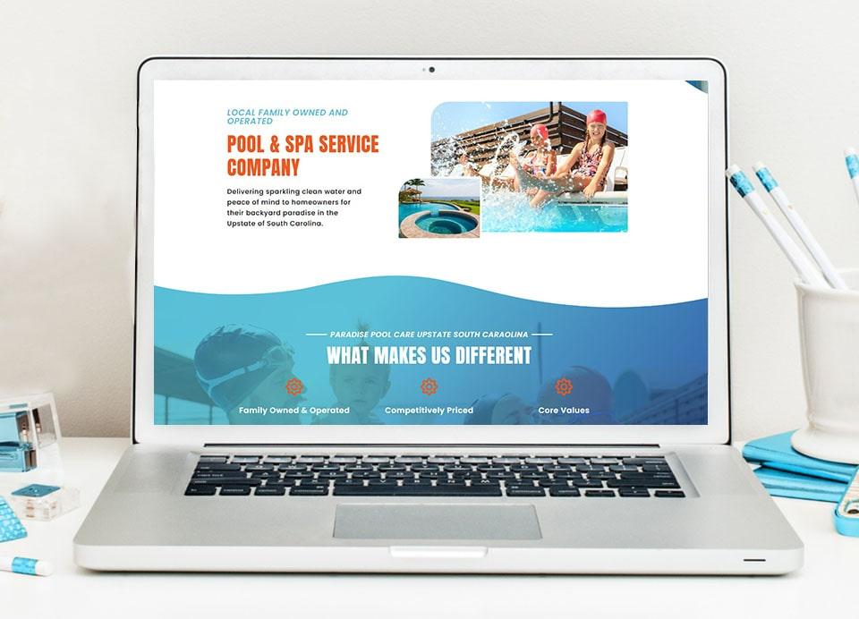 Paradise-pool website design 3