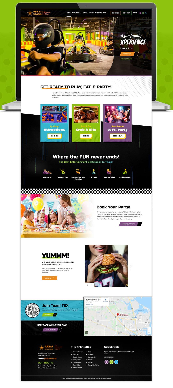 TEX website home page design