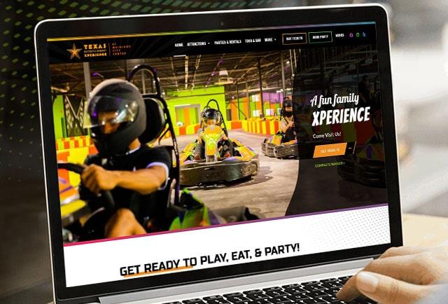 TEX lifestyle center website redesign portfolio image