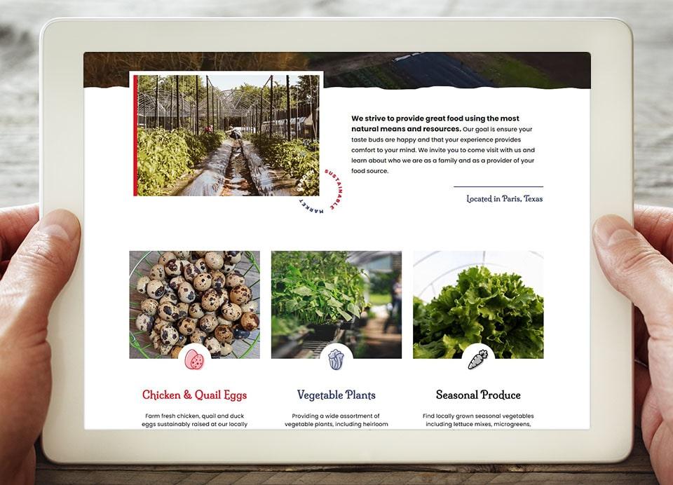 pnf produce farm website design