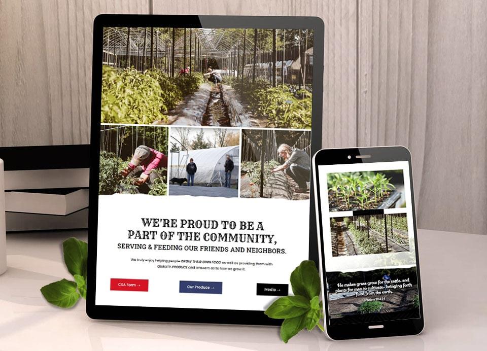 pnf responsive farm website design