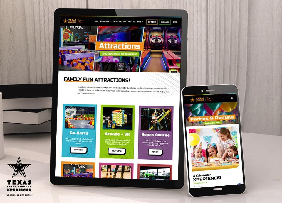 tex responsive website design